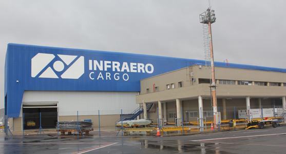 Imagem do lado ar do complexo logístico do Aeroporto de Curitiba.